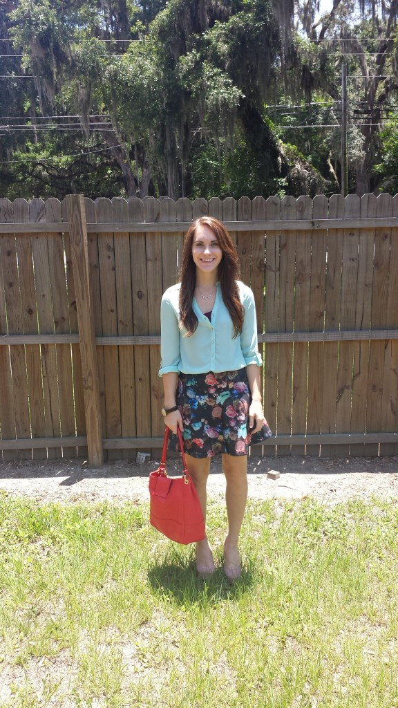 skirt and purse smile