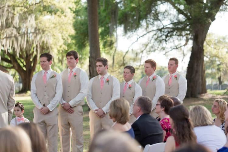 Boys at ceremony