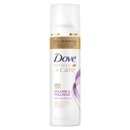 Have hair that looks and feels clean without having to wash it with Dove Refresh+Care Volume & Fullness Dry Shampoo. With just a few quick sprays you can have hair that looks and feels beautiful, healthy and full of body. When you don't have time for a full wash with water, Dove dry shampoo quickly helps to reduce the oily, greasy feel of unwashed hair, leaving it easy to style and manage. It also comes with a light clean scent, so you can enjoy the feeling of hair that is fresh and clean within seconds. This Dove dry shampoo refreshes your hair using ingredients that absorb excess oil and then brush easily out of your hair, leaving it looking and feeling clean, soft and full of body. How to use. To use, first separate your dry hair into sections. Shake the dry shampoo spray can vigorously; hold it about 8-12 inches from the head and spray directly into the roots of your hair in short bursts. Leave in for a couple of minutes, then brush through for hair that is revived & full of body.